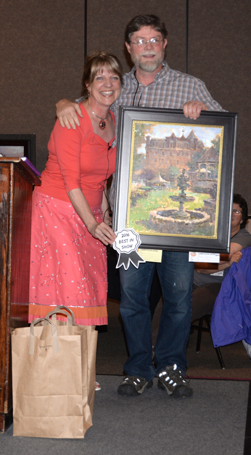 Nyle Gordon - Best of Show - $500 and $1100 Plein Air Magazine Award - with Peggy Kjelgaard
