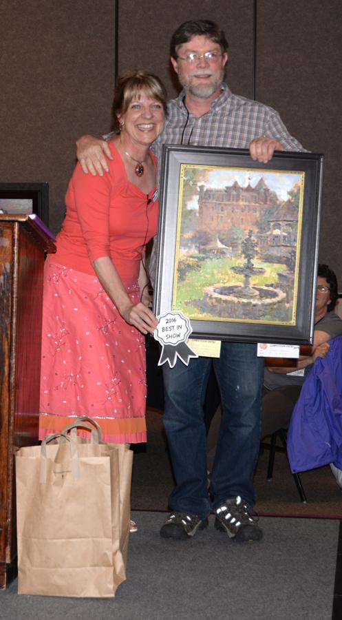 Nyle Gordon - Best of Show - $500 and $1100 Plein Air Magazine Award - with Peggy Kjelgaard